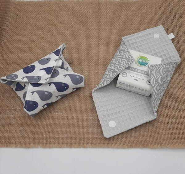 2 pochettes à savon nomade