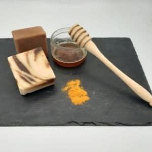 savons onctueux de 100g miel curcuma