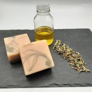 visuel du marbrage du savon précieux